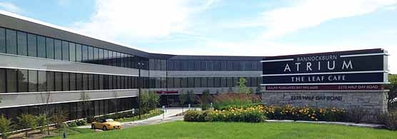 Exterior of the Bannockburn Atrium as seen from Half Day Road. More about Lake Cook Reporting at our home page.