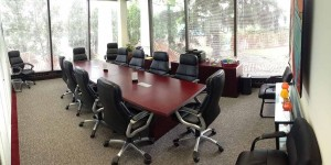 Lake-Cook Reporting Glass Conference Room, perfect as a meeting space or for depositions.
