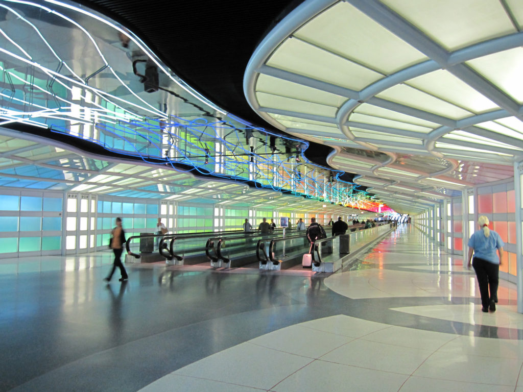 O'Hare Airport terminal. Credit: InSapphoWeTrust from Los Angeles, California, USA
