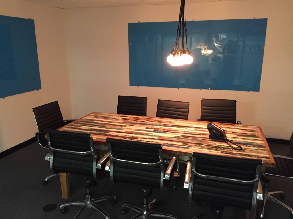 Conference room offered by Lake Cook Reporting for depositions and more.