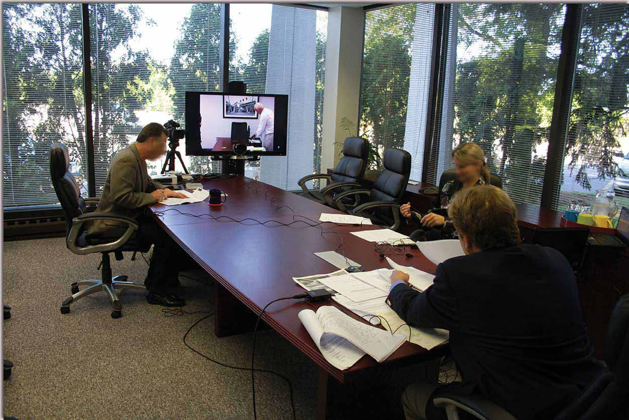 Example video conference at Lake Cook Reporting. Video conference scheduling available online at our website.