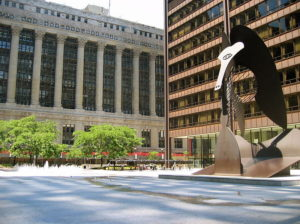 Daley Center in downtown Chicago where our Chicago court reporters cover hearings and trials.