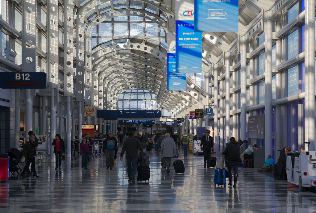 Concourse B At O'Hare Airport. Photo by